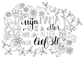 Goed Verjaardag Kleurplaat Mama Kleurplaat 2019