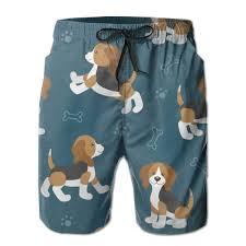 Amazon Com Mens Casual Sleep Shorts Cute Cartoon Dog