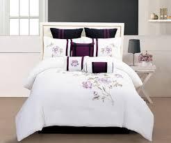 Grey Comforter Queen Beautiful Sets Brown And Aqua Purple Cream ...