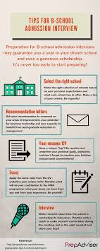 interview preparation tips for b school admission prepadviser com interview preparation tips b school admission infographic