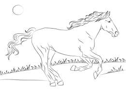 Small Picture Beautiful Mustang Horse coloring page Free Printable Coloring Pages