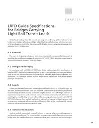 Bridge Design Considerations Chapter 4 Lrfd Guide Specifications For Bridges Carrying