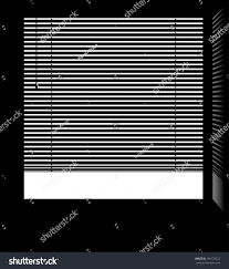 office window blinds. Office Window With Jalousie Blinds Isolated White Parts And Shadow. Easy Editable Layered Vector T