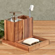 Wooden Bathroom Accessories Set Clearance Bath Decor Touch Of Class