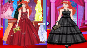 ariel prom night dress up game disney princess game for s you