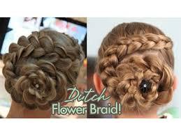 Braided Updo Hairstyles 24 Inspiration Dutch Flower Braid Updos Cute Girls Hairstyles YouTube