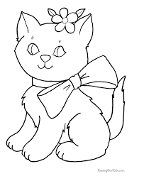 Small Picture cat teaparty color page free printable coloring sheets for kids