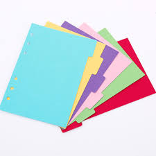 Page Binder 25k 36k 48k Pure Color 6 Rings Binder Index Page Planner Diarys Divider Page Refill Paper Custom Wholesale Buy Planner Refill Notebook