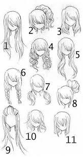 Anime Hair Chart How To Draw Hair Art Drawings Drawings