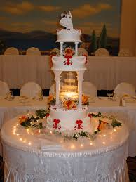 Wedding Cakes With Fountains And Stairs Photos Freezer And Stair