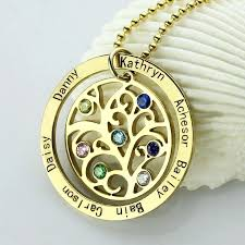 personalized new mom jewelry birthstone family tree necklace gold mother engraved our name mothe best personalized mom jewelry