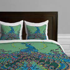 Peacock Colors Bedroom Green And Blue Peacock Duvet Cover Master Bedroom Pinterest