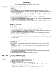 Download Boutique Resume Sample as Image file