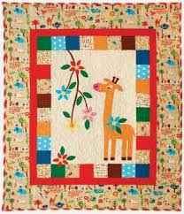 28 best giraffe images on Pinterest | Projects, Baby animals and ... & Appliqued giraffe quilt from Red Rooster Adamdwight.com