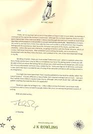 j k rowling fan letter by banana baa on j k rowling fan letter by banana baa2012