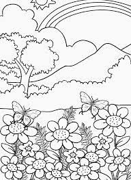 Small Picture Nature coloring pages rainbow mountain flowers ColoringStar