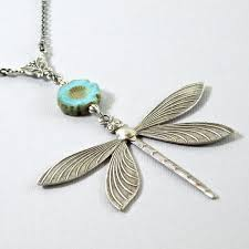 long silver dragonfly necklace large dragonfly turquoise necklace dragonfly jewelry nature jewelry