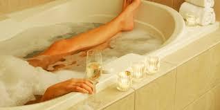 a clean ceramic tile bathtub