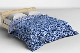 beautiful fresh blue and white tudor damask duvet cover in a pattern inspired by the work of william morris