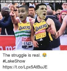 More kuzma pages at sports reference. Kyle Kuzma Shows His Support Of The Struggling Lonzo Ball Onbamemes Wish Wish Lakers 1547 The Struggle Is Real Lakeshow Httpstcolpx5atbuje Los Angeles Lakers Meme On Me Me