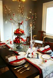 Christmas Decorations For Kitchen Winning Christmas Decorations For Table White Embroidered Table