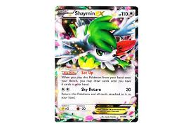 shaymin ex roaring skies card