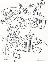 300x387 free, printable cinco de mayo coloring pages for kids cinco. Cinco De Mayo Coloring Pages Doodle Art Alley