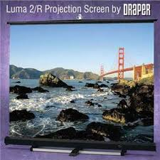 <b>Draper Luma 2</b>, <b>AV</b> Format Manual Wall or Ceiling Projection ...