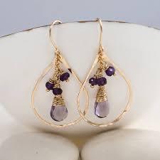 cape amethyst quartz and rondelles chandelier earrings