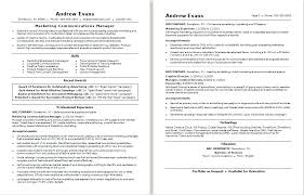 Communications Resumes Manager Samples Of Marketing Resume Sample ...