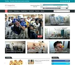 Newspaper Web Template Free News Website Templates New Portal Responsive Template Free