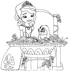 Princess Sofia Colouring Pages Free With Coloring Printable