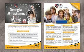 school brochure design ideas elegant playful education flyer design for xlacademy llc
