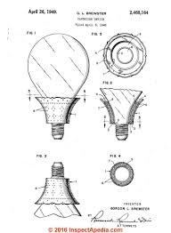 brewster light bulb and asbestos fragrance dispenser 1949 inspectapedia com
