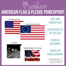 American Flag Powerpoint Basic American Flag And Pledge Of Allegiance Powerpoint