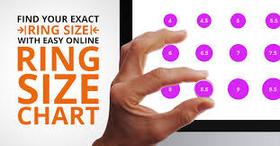 Real Size Ring Chart Ring Size Chart Determine Your Ring Size Using Online Ring