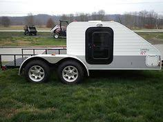 little guy toy hauler this is slick strap dirtbikes to trailer tow trailer to spot ride get tanked sleep in attached shanty
