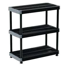 plastic storage shelving unit black plastic storage shelving unit hdx 4 shelf black plastic ventilated storage
