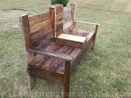 wood pallet furniture. DIY Wooden Pallet Outdoor Bench Wood Furniture D