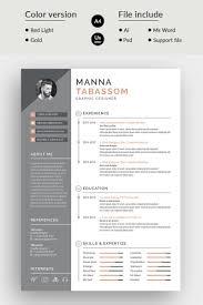 Manna Tabssom Modern Resume Template Socialmedia Design Modern