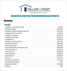 contractor quote template 6 contractor estimate templates pdf doc free premium templates