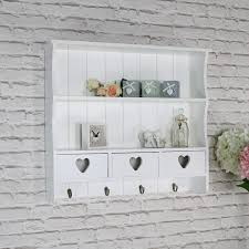 details about white wall shelving unit vintage french 2 shelf bedroom bathroom hallway storage