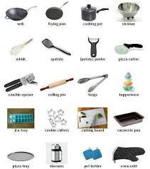 Kitchen Articles Chart Kitchen Utensils Vocabulary Chart Learn English English
