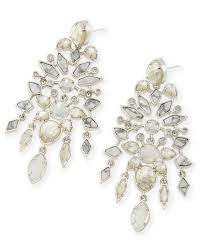 aryssa silver statement earrings in white kendra scott