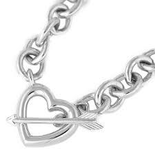 heart arrow solid necklace pendant sv 925 73 9 g silver tiffany co reebonz brunei darussalam