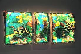 blown glass wall art art glass custom blown glass wall art for
