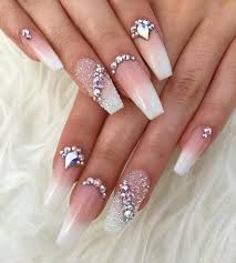 Nail Designs With Jewels 70 Coffin Nail Designs You Will Love Nail Shapes