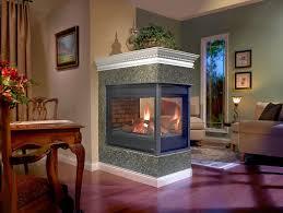 stone brick with peninsula fireplaces