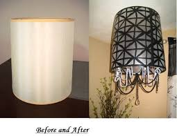 picture of diy lampshade chandelier