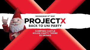 project x back to uni party jumping castle